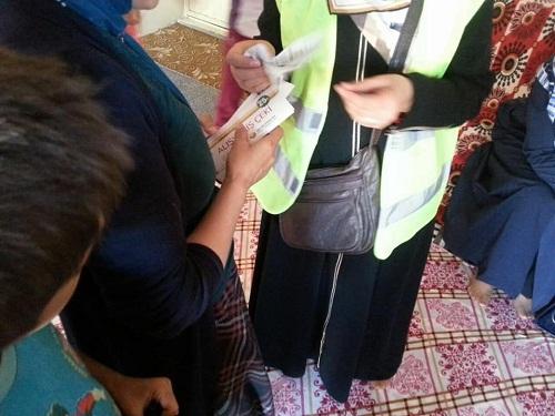 Mina Kadın Der'den Van ilinde bulunan muhtaç ailelere yardım çeki 1