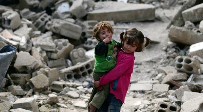 Suriye savaşında çocuklar 1