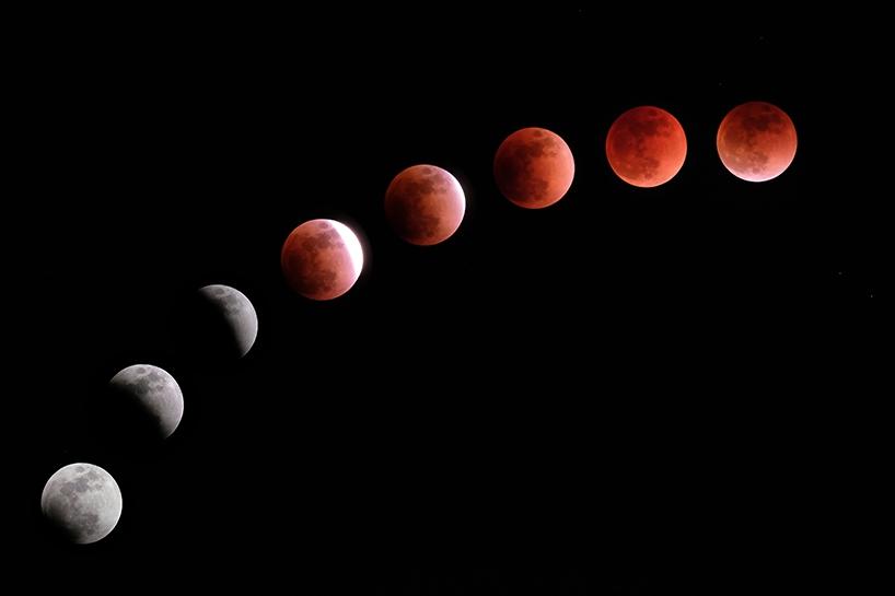 Süper Kanlı Mavi Ay'dan muhteşem görüntüler 1
