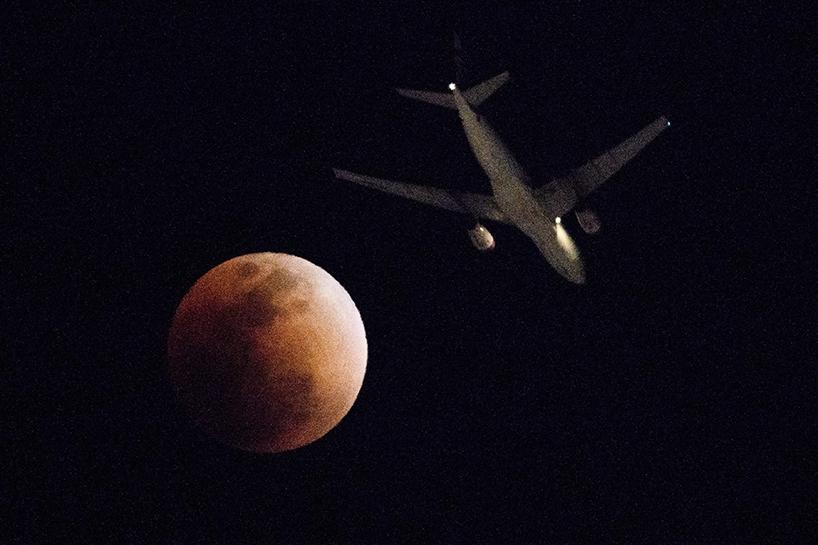 Süper Kanlı Mavi Ay'dan muhteşem görüntüler 11