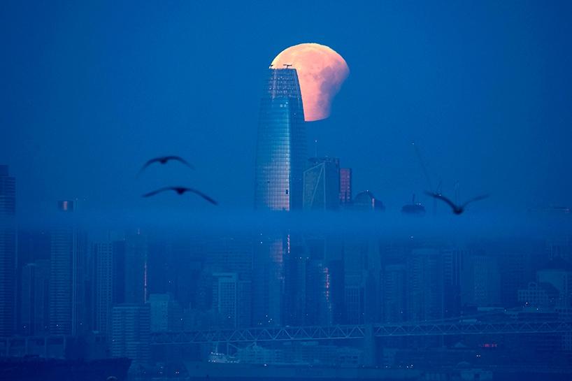 Süper Kanlı Mavi Ay'dan muhteşem görüntüler 12