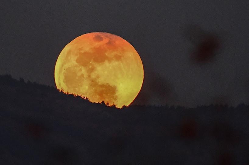 Süper Kanlı Mavi Ay'dan muhteşem görüntüler 5