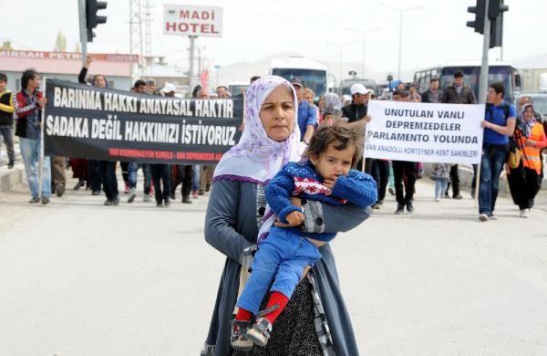 Depremzedeler Ankara'ya yürüyor 3