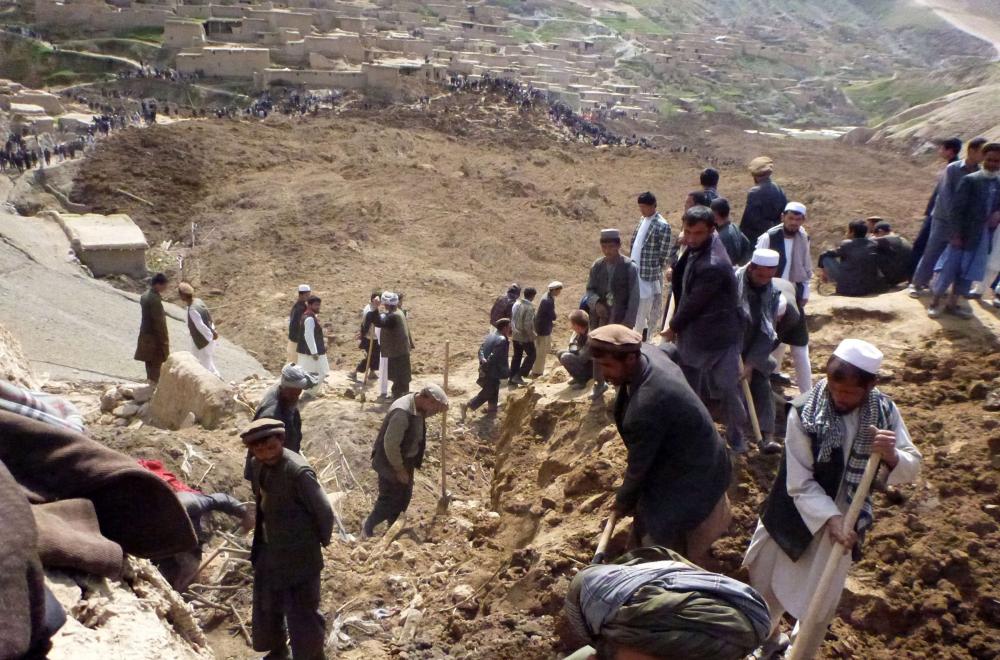 Afganistan'da heyelan faciası 1
