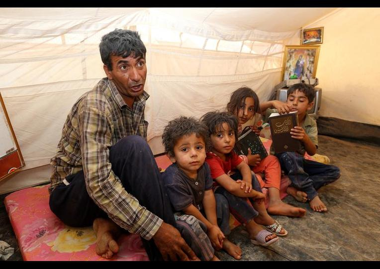 Sığınmacı kampında Ramazan 'MUSUL' 13