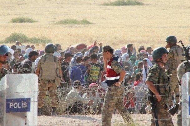 Rojava'dan Sınırlara İnsan Seli 13