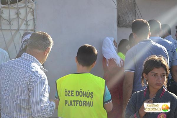 Öze Dönüş Platformu'nun Kobanili Muhacirlere Yardım Çalışması 102