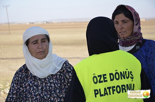Öze Dönüş Platformu'nun Kobanili Muhacirlere Yardım Çalışması 110