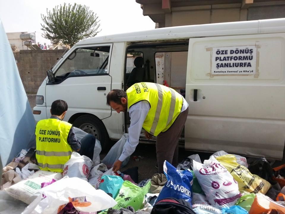 Öze Dönüş Platformu'nun Kobanili Muhacirlere Yardım Çalışması 13