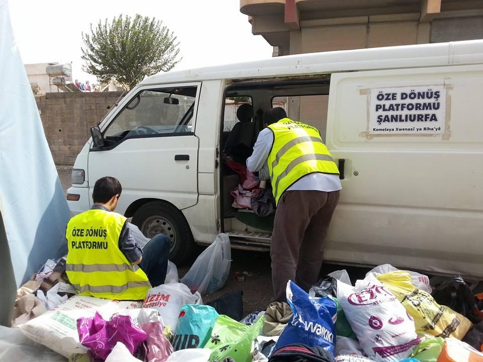Öze Dönüş Platformu'nun Kobanili Muhacirlere Yardım Çalışması 2