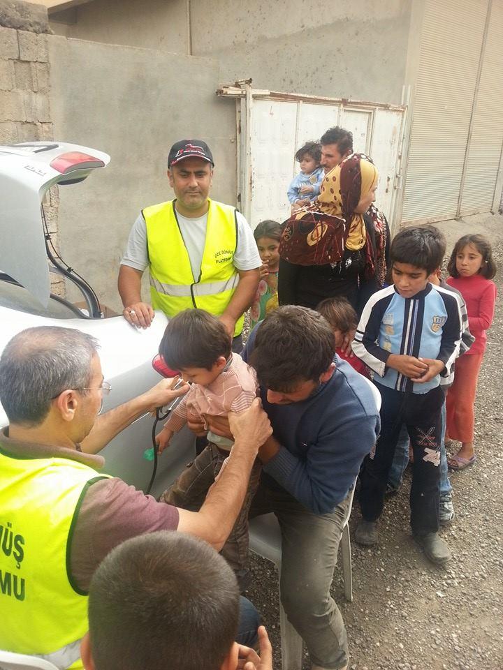 Öze Dönüş Platformu'nun Kobanili Muhacirlere Yardım Çalışması 34