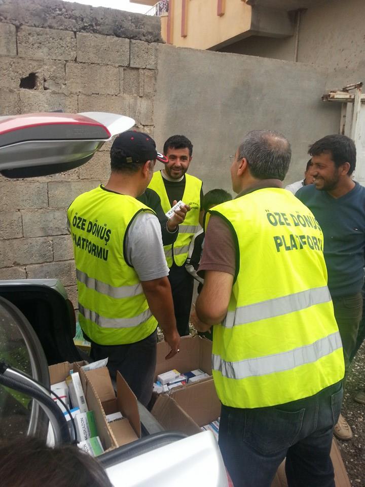 Öze Dönüş Platformu'nun Kobanili Muhacirlere Yardım Çalışması 48