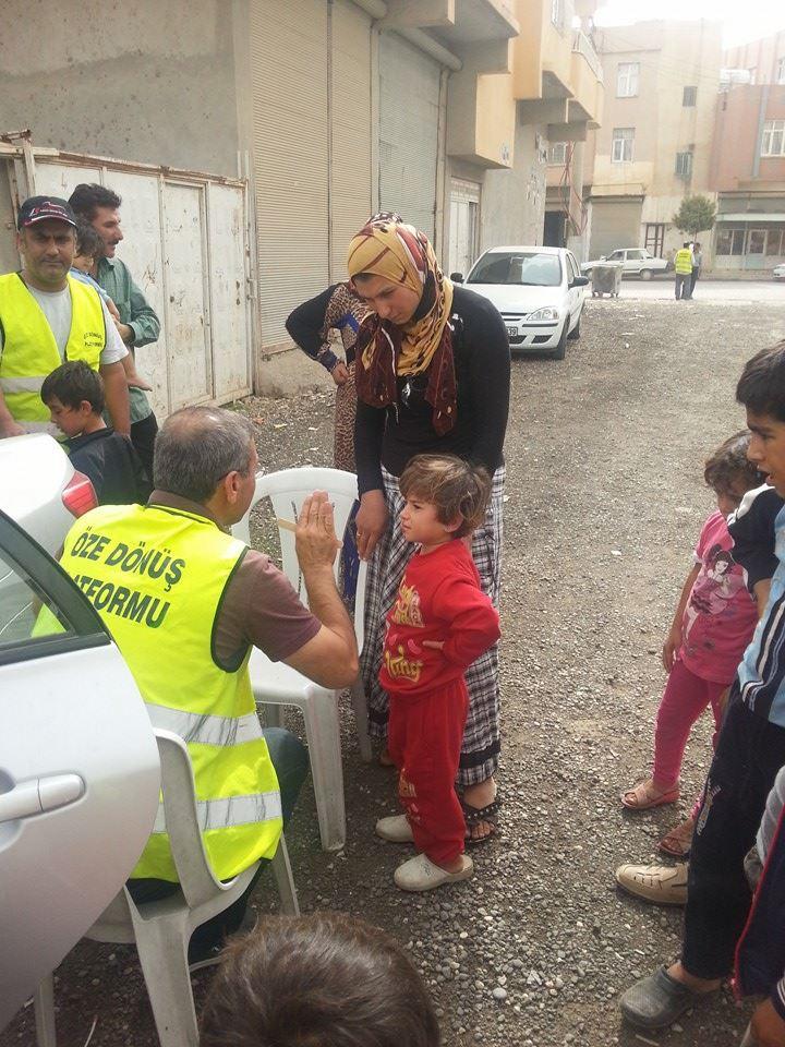 Öze Dönüş Platformu'nun Kobanili Muhacirlere Yardım Çalışması 53