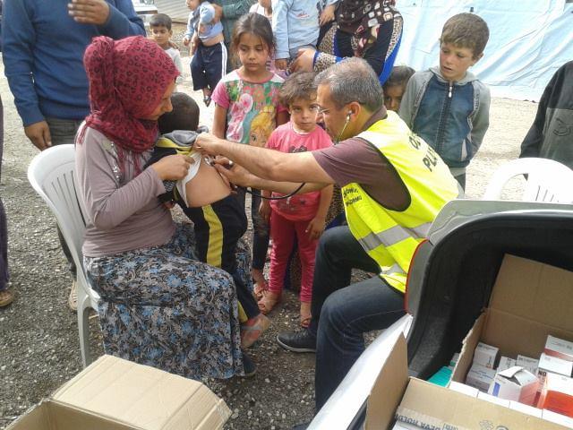Öze Dönüş Platformu'nun Kobanili Muhacirlere Yardım Çalışması 58
