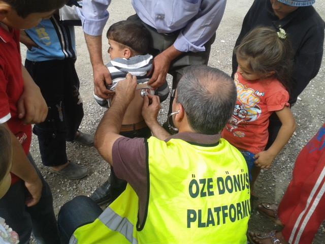 Öze Dönüş Platformu'nun Kobanili Muhacirlere Yardım Çalışması 62