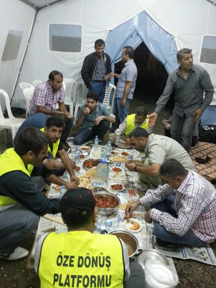 Öze Dönüş Platformu'nun Kobanili Muhacirlere Yardım Çalışması 65