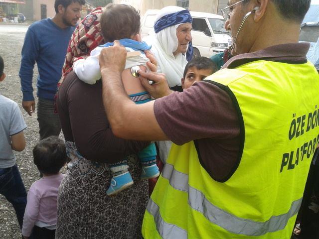 Öze Dönüş Platformu'nun Kobanili Muhacirlere Yardım Çalışması 66