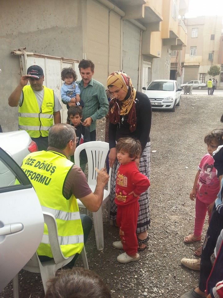 Öze Dönüş Platformu'nun Kobanili Muhacirlere Yardım Çalışması 67