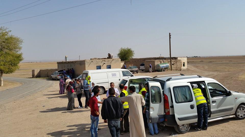 Öze Dönüş Platformu'nun Kobanili Muhacirlere Yardım Çalışması 70