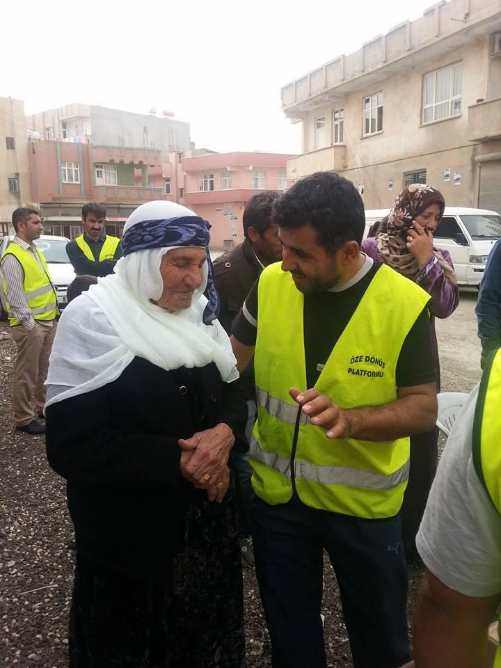 Öze Dönüş Platformu'nun Kobanili Muhacirlere Yardım Çalışması 72
