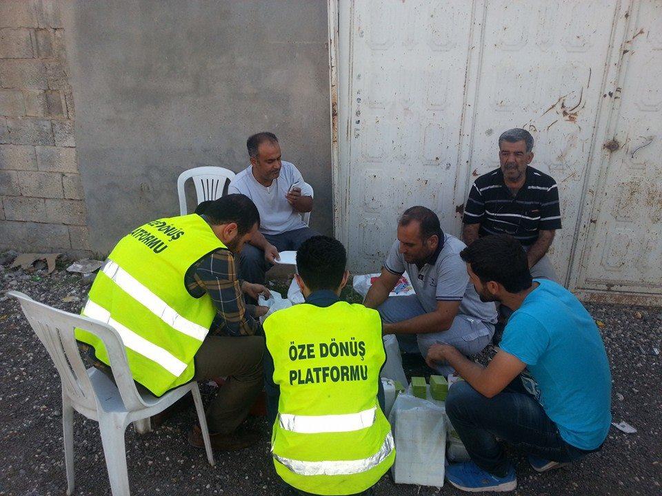 Öze Dönüş Platformu'nun Kobanili Muhacirlere Yardım Çalışması 77