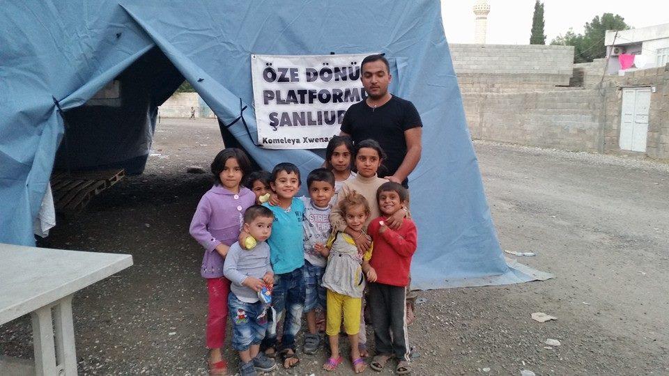 Öze Dönüş Platformu'nun Kobanili Muhacirlere Yardım Çalışması 78