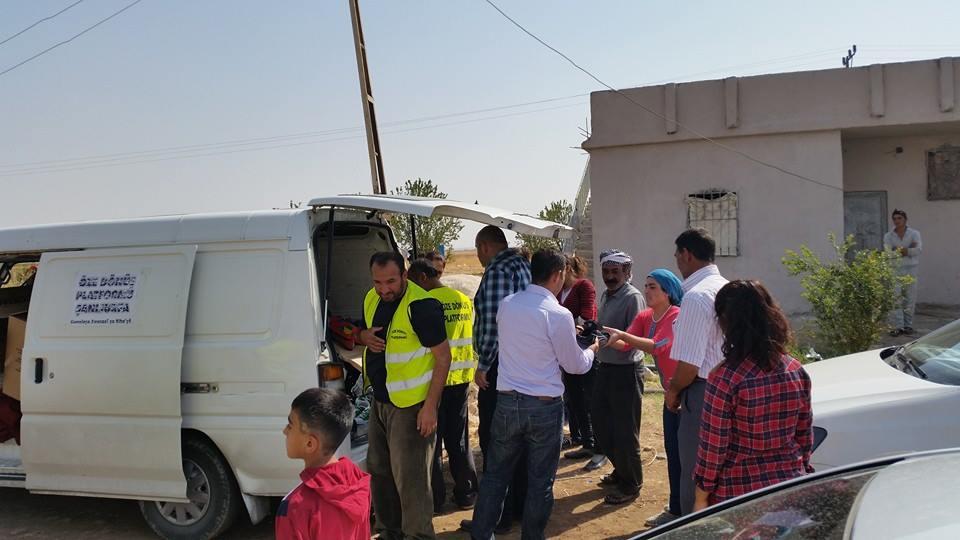 Öze Dönüş Platformu'nun Kobanili Muhacirlere Yardım Çalışması 8