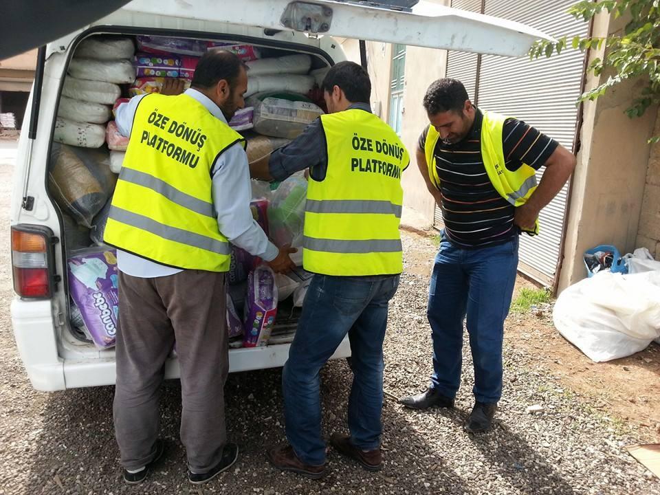 Öze Dönüş Platformu'nun Kobanili Muhacirlere Yardım Çalışması 81