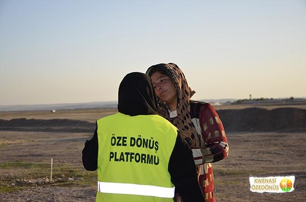 Öze Dönüş Platformu'nun Kobanili Muhacirlere Yardım Çalışması 91