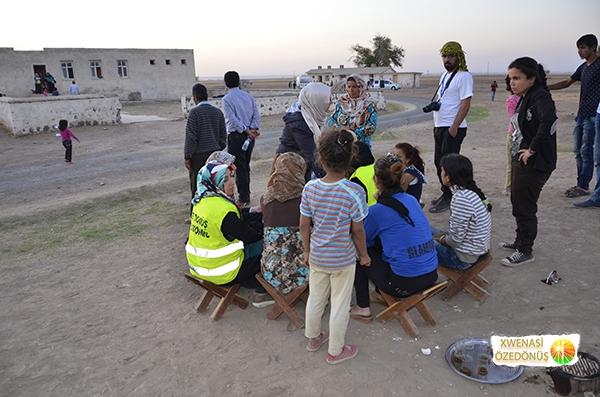 Öze Dönüş Platformu'nun Kobanili Muhacirlere Yardım Çalışması 95