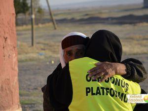 Öze Dönüş Platformu'nun Kobanili Muhacirlere Yardım Çalışması
