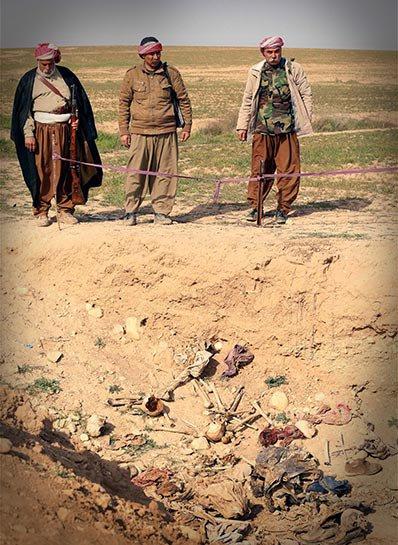 Şengal'de bulunan Ezidi Kürtler'e ait toplu mezarlar... 18