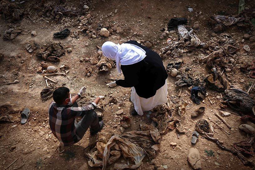 Şengal'de bulunan Ezidi Kürtler'e ait toplu mezarlar... 3