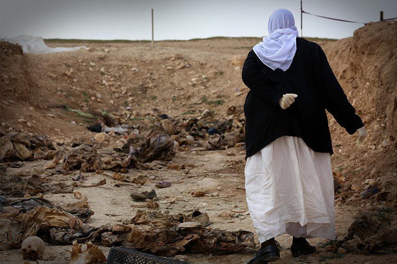 Şengal'de bulunan Ezidi Kürtler'e ait toplu mezarlar... 5