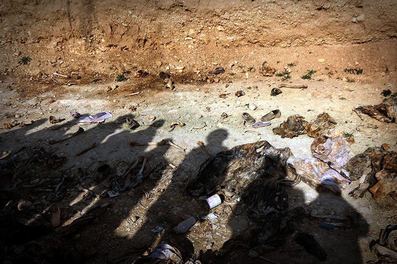 Şengal'de bulunan Ezidi Kürtler'e ait toplu mezarlar... 8