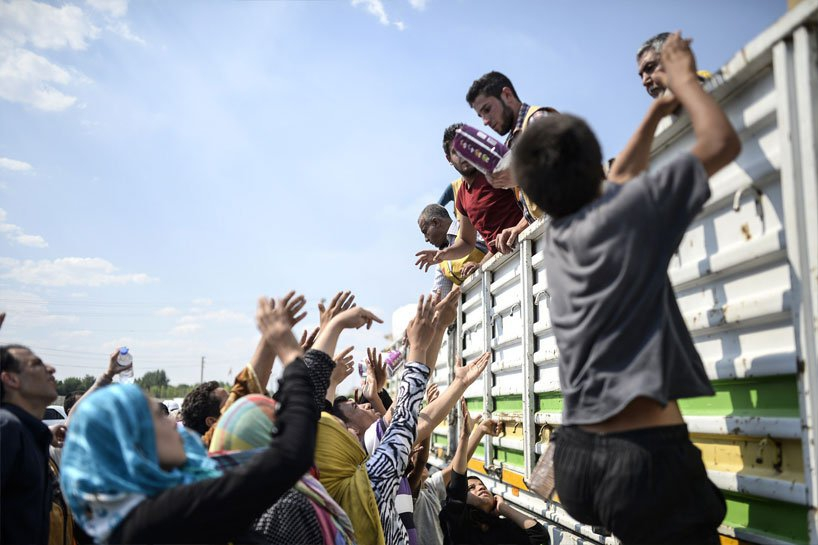 Türkiye sınırındaki Rojavalı mülteciler 1