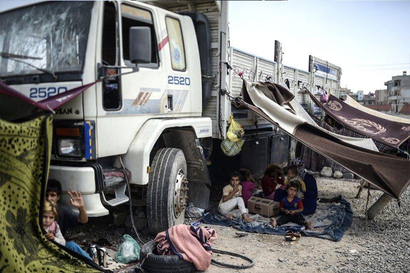 Türkiye sınırındaki Rojavalı mülteciler 11