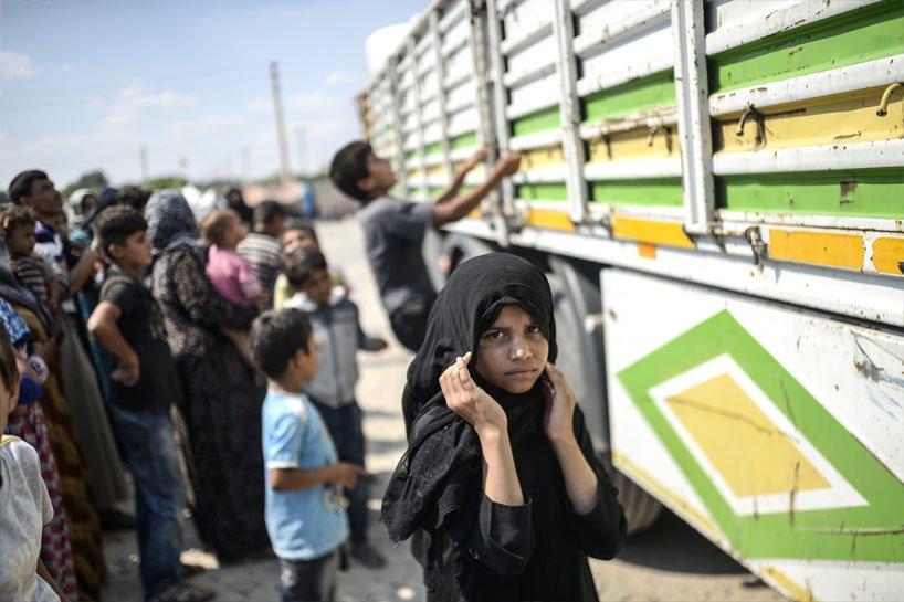 Türkiye sınırındaki Rojavalı mülteciler 13