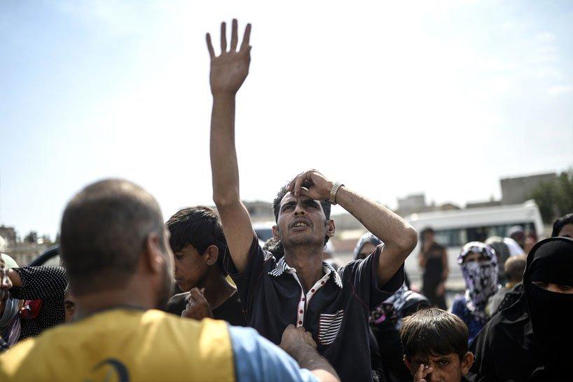 Türkiye sınırındaki Rojavalı mülteciler 16