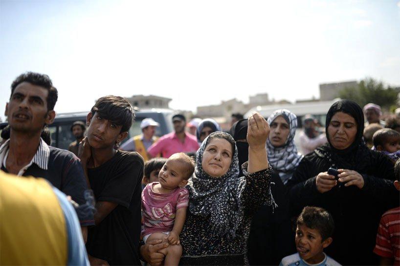Türkiye sınırındaki Rojavalı mülteciler 17