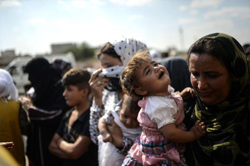 Türkiye sınırındaki Rojavalı mülteciler 7