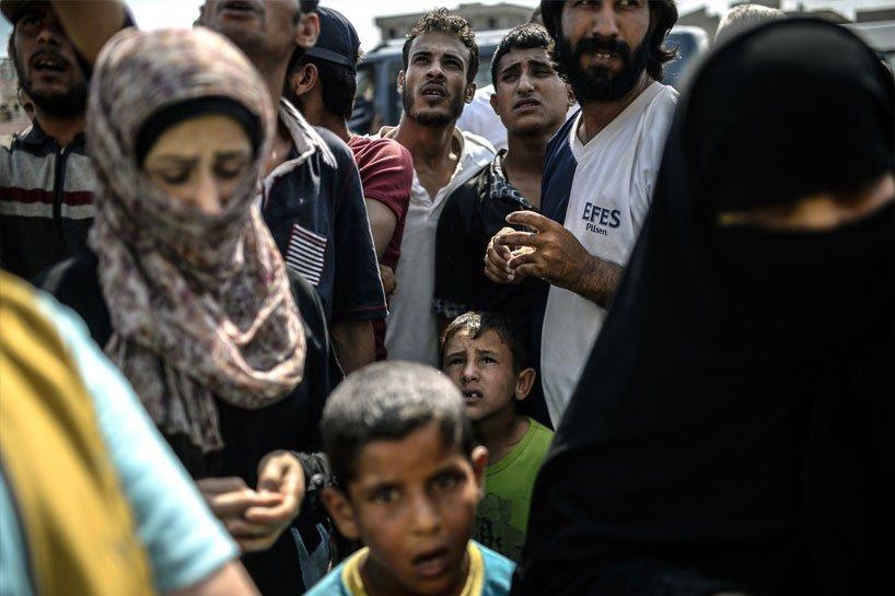 Türkiye sınırındaki Rojavalı mülteciler 8