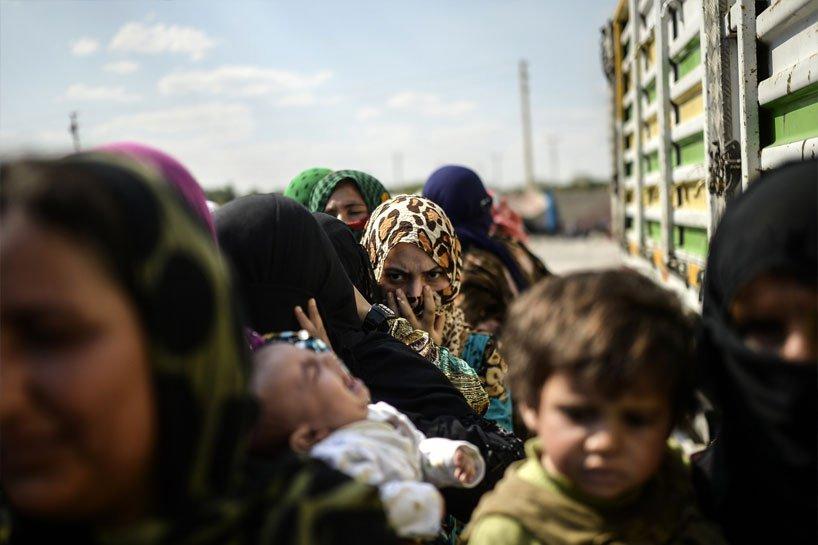 Türkiye sınırındaki Rojavalı mülteciler 9