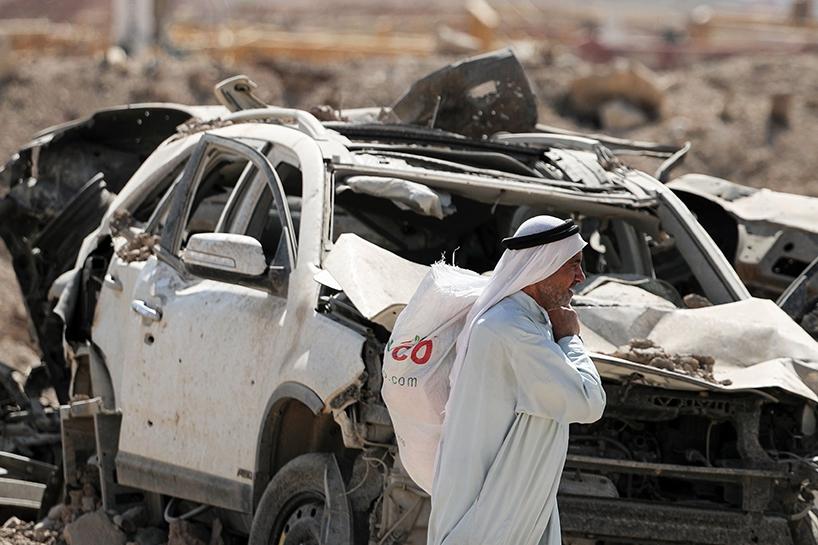 Fotoğraflara Musul'da sivillerin göçü 13