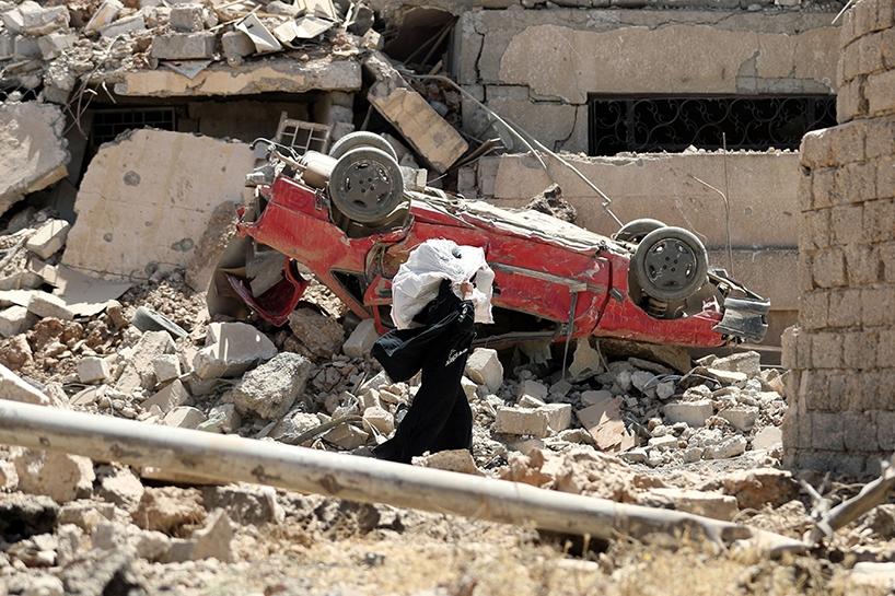 Fotoğraflara Musul'da sivillerin göçü 2