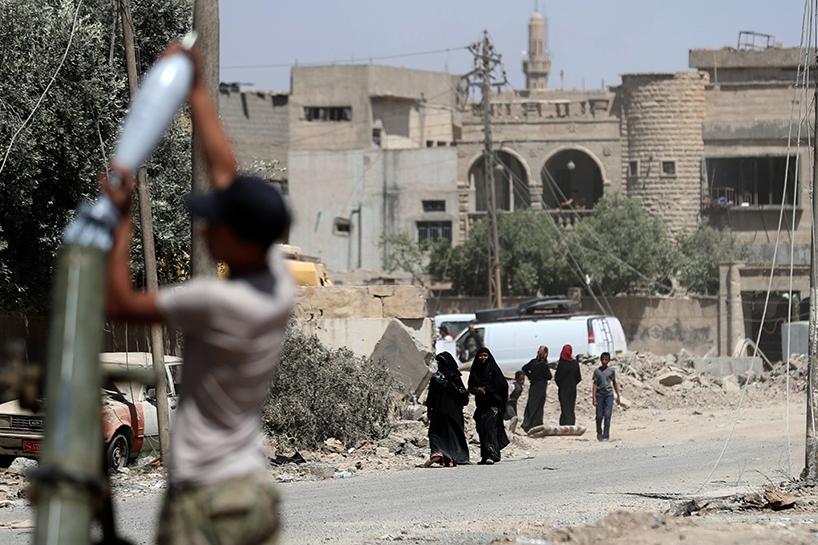 Fotoğraflara Musul'da sivillerin göçü 7