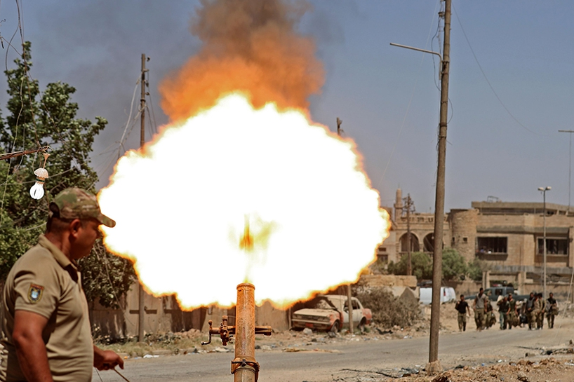 Fotoğraflara Musul'da sivillerin göçü 8