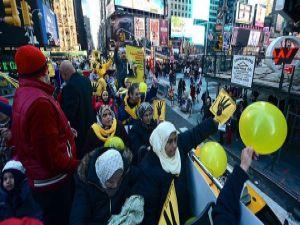 ABD'deki Mısırlılardan sıradışı darbe protestosu