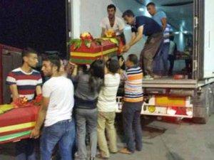 13 YPG'linin cenazesi Türkiye'de