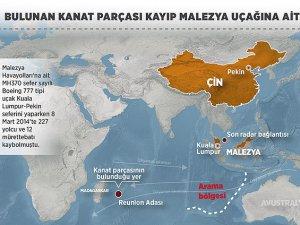 Bulunan kanat parçası kayıp Malezya uçağına ait